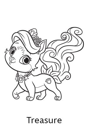 300x450 Palace Pets Coloring Pages 01 Coloring Palace Pets