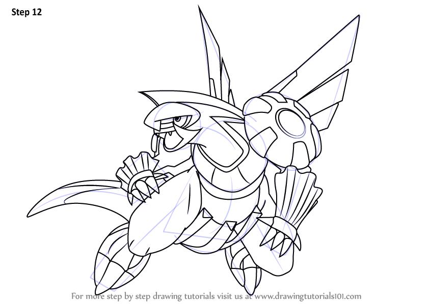 844x598 Learn How To Draw Palkia From Pokemon (Pokemon) Step By Step