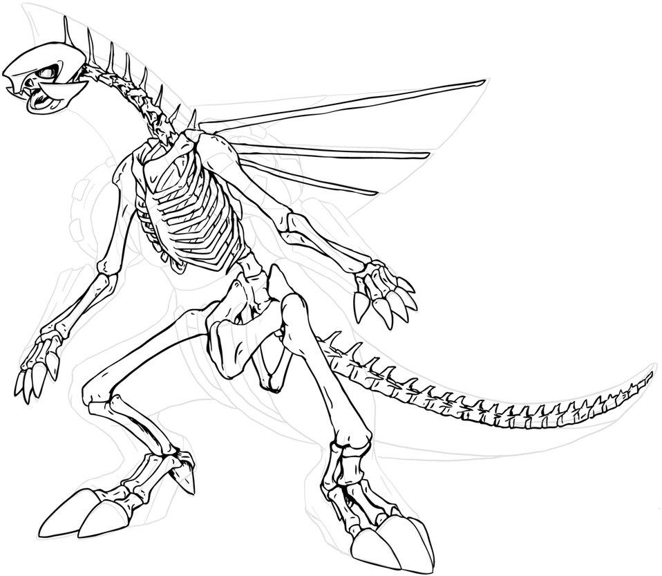 958x833 Palkia Skeleton By Chibi Pika