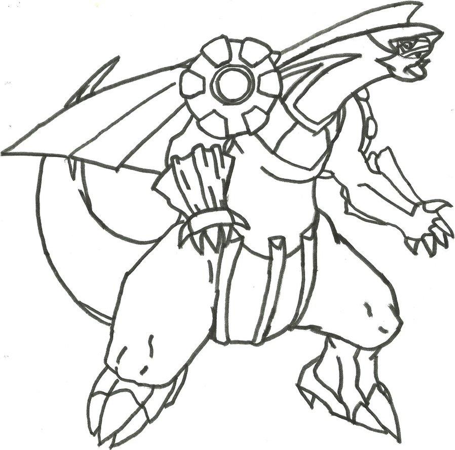 898x889 Palkia Sketch (Redone) By Coolman666