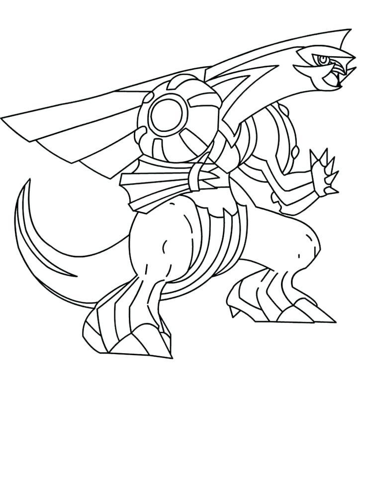 736x975 Pokemon Coloring Pages Dialga Coloring Page Pokemon Dialga