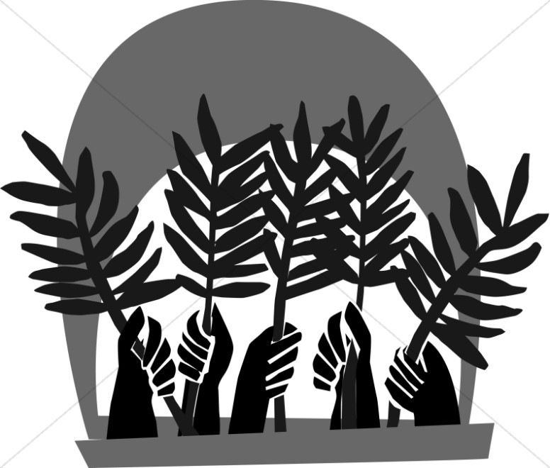 776x660 Hands Waving Palm Fronds Palm Sunday Clipart