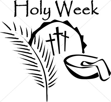 388x358 Holy Week Crosses With Palm Leaf And Wash Bowl Lent Word Art