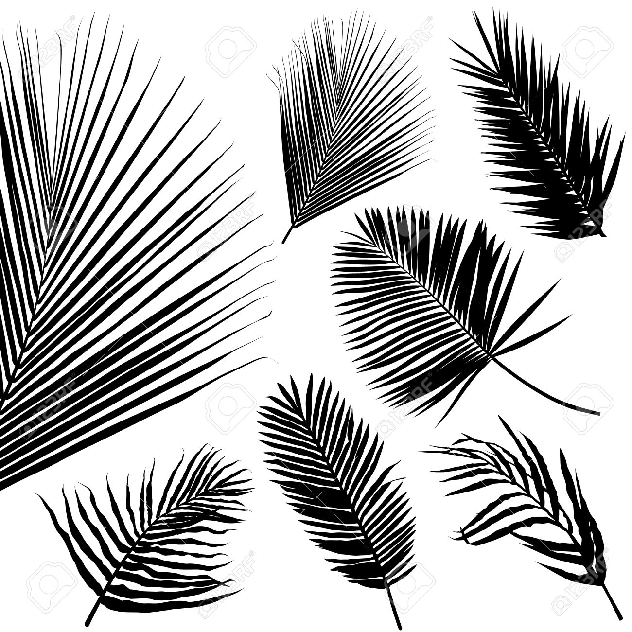 1300x1300 Palm Leaf Seamless Pattern Royalty Free Cliparts, Vectors,