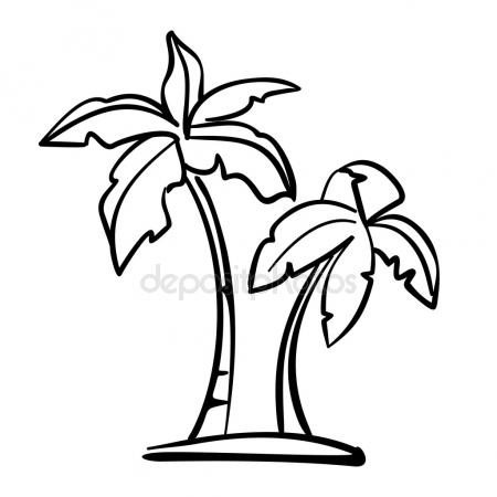 450x450 Palm Branch Sketch Icon. Stock Vector Rastudio