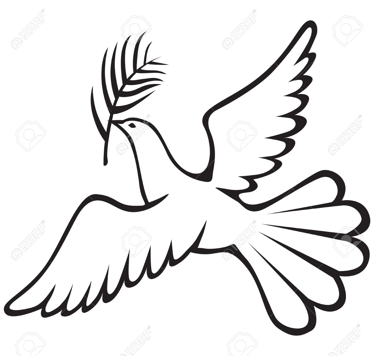 1300x1238 White Dove With A Palm Branch Royalty Free Cliparts, Vectors,