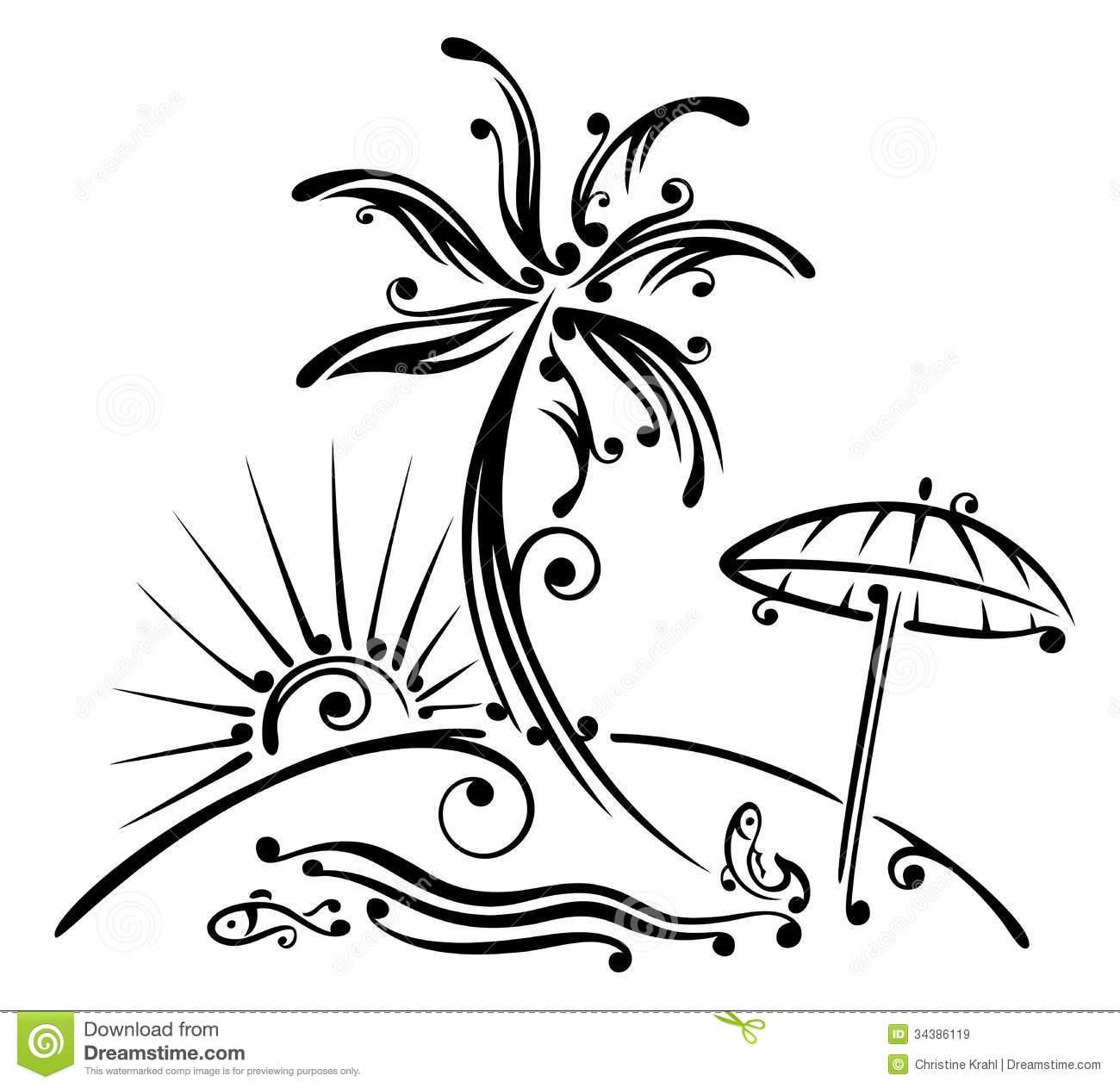 1300x1263 Drawn Palm Tree Beachy