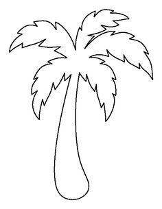 236x305 Palm Tree Pattern. Use The Printable Outline For Crafts, Creating