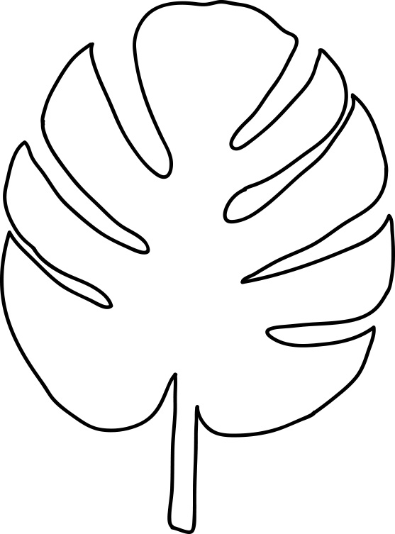 557x753 Palm Leaf Coloring Page Barkandcall Colouring Sheets 5297