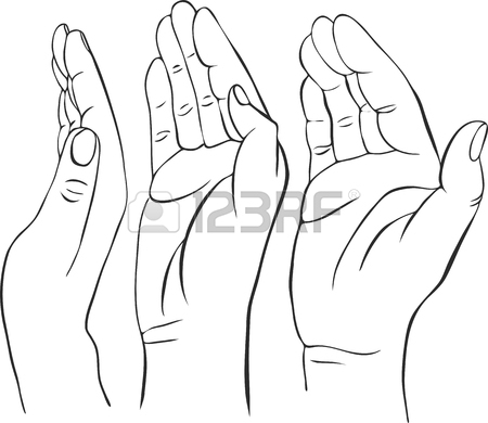 450x390 Hand With Open Palm, Hand Drawn Vector Illustration,guardian