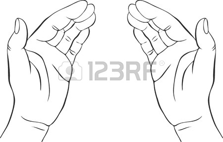 450x287 Two Hands With Open Palms, Hand Drawn Vector Illustration,guardian