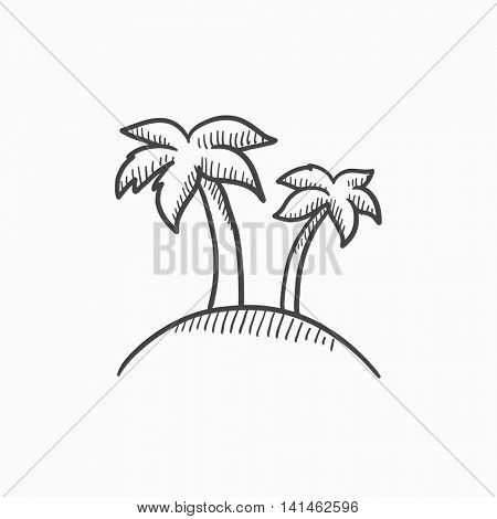 450x470 Two Palm Trees On Island Vector Vector Amp Photo Bigstock