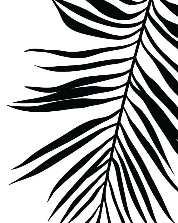 570x713 palm leaf print tropical leaf print printable art palm art