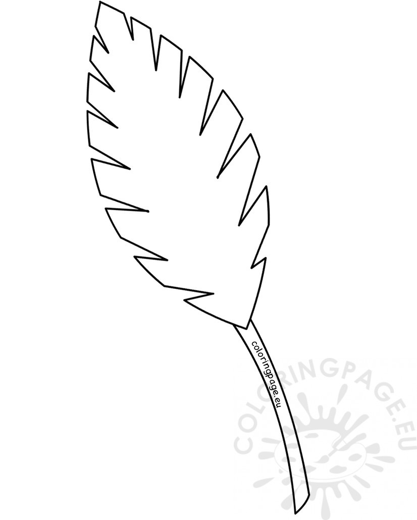 826x1030 Palm Leaf Outline Palm Sunday Coloring Page