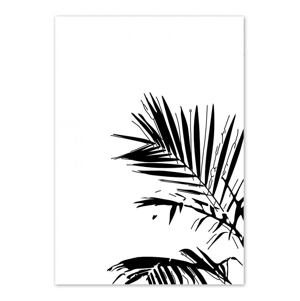 1021x1024 Palm Leaves Art Print Eddie And Giant Peach Eddie And