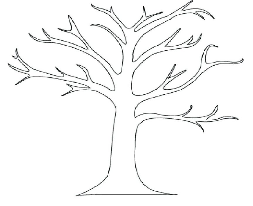 863x703 Download Tree Coloring Pages Maple Leaves Of Pumpkin Fall