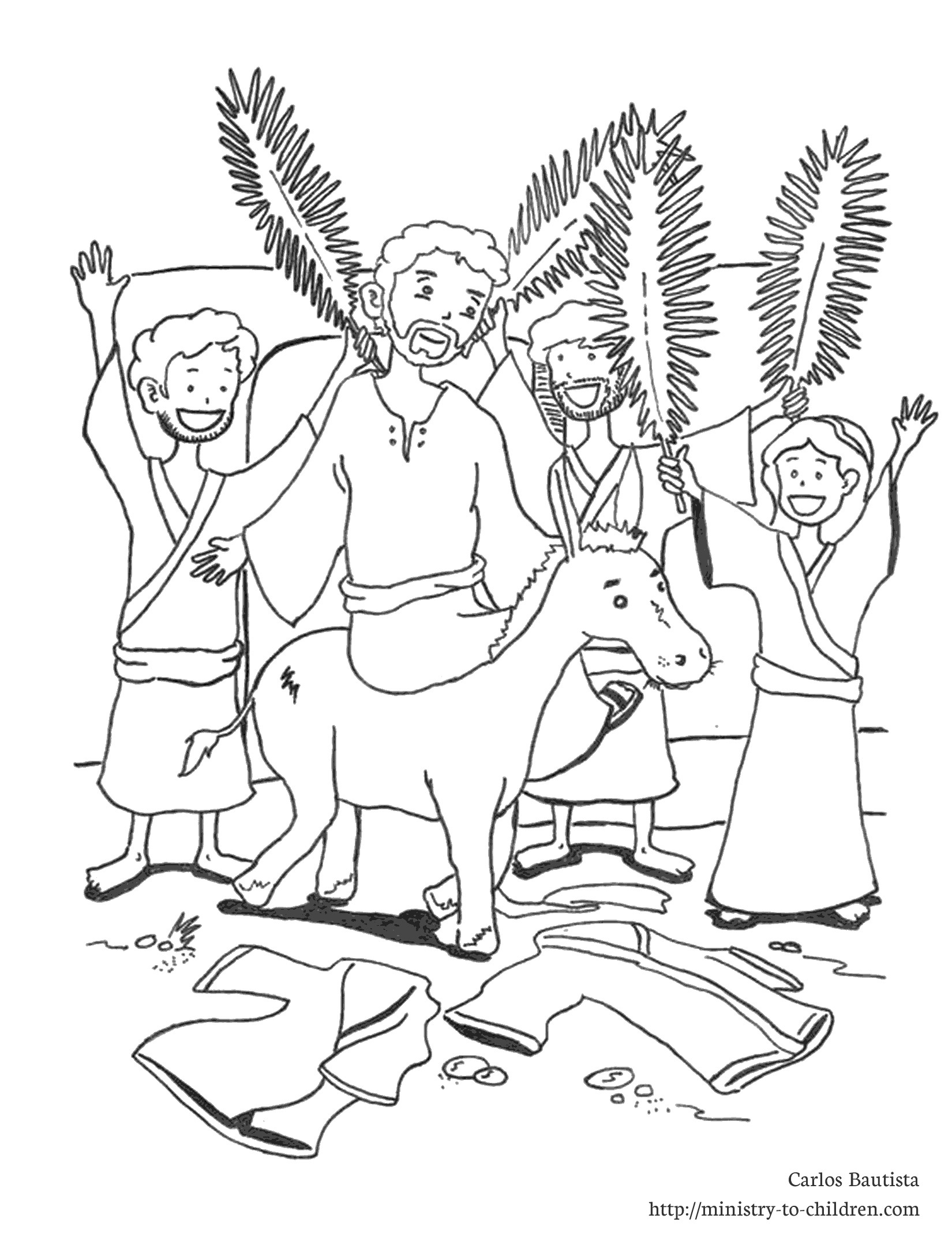 1650x2150 Palm Sunday Coloring Page Printable For Funny Draw Printable