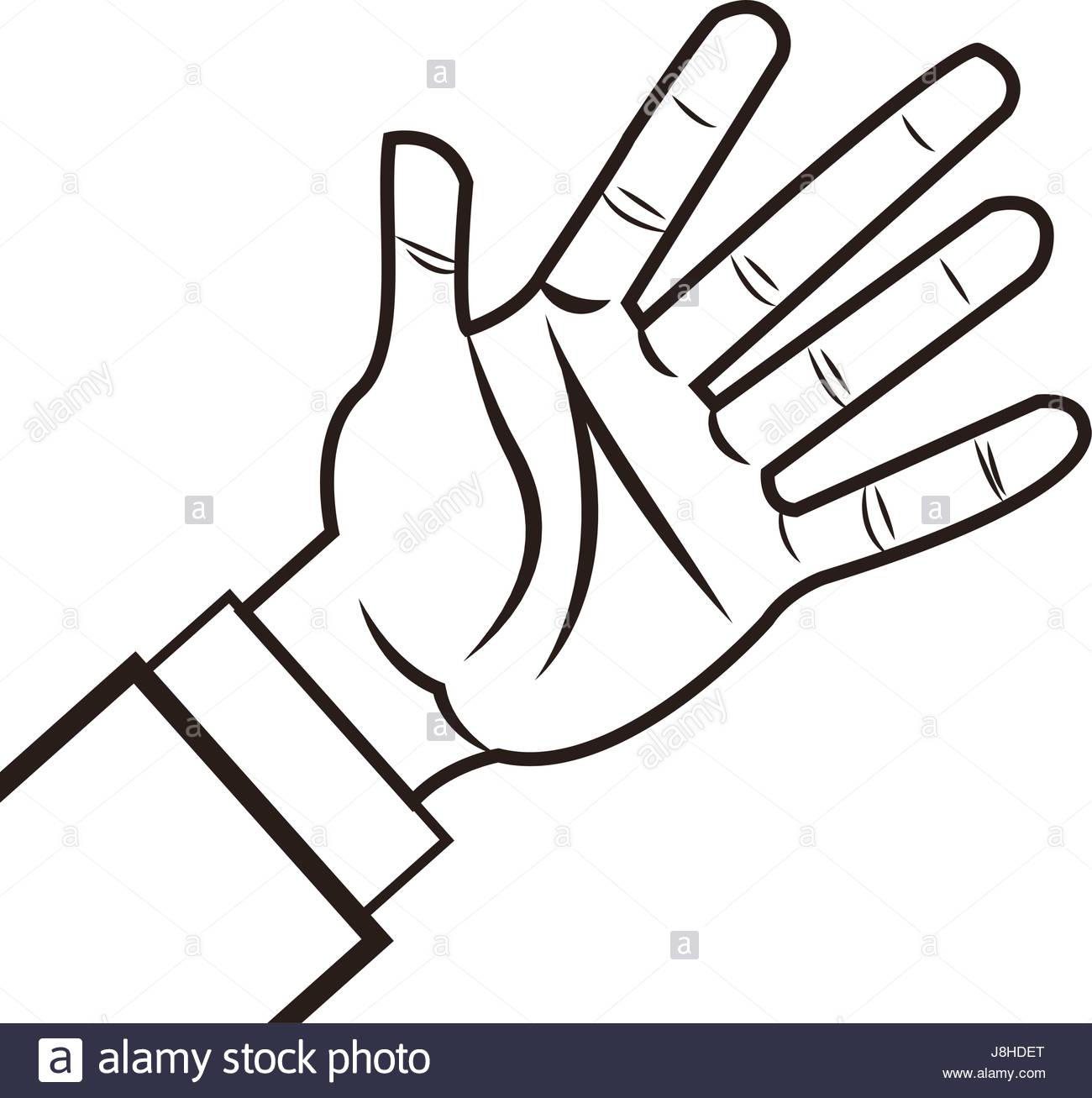 1300x1307 Male Palm Hand Gesture Palm Business Icon Stock Vector Art