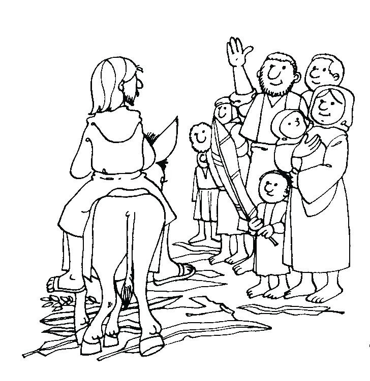 728x751 Ideal Palm Sunday Coloring Page Kids Pages Another Picture