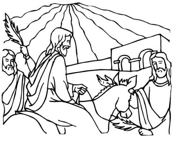 600x516 Kids Drawing Of Palm Sunday Coloring Page Kids Drawing Of Palm
