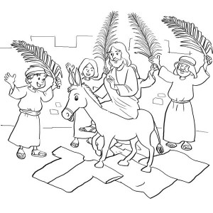 300x300 Beautiful Drawing Of Jesus For Palm Sunday Coloring Page Color Luna