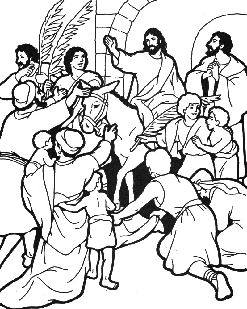 Palm Sunday Drawing at GetDrawings.com | Free for personal use Palm ...