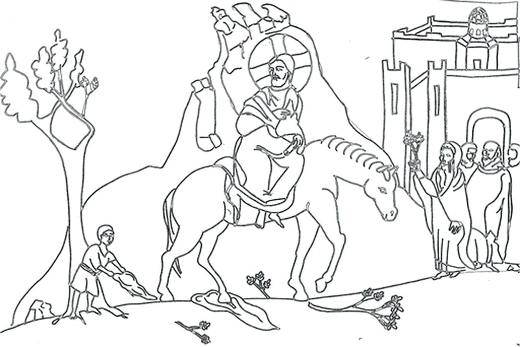 1048x700 Beautiful Palm Sunday Coloring Pages Or Kid Drawing Of Palm
