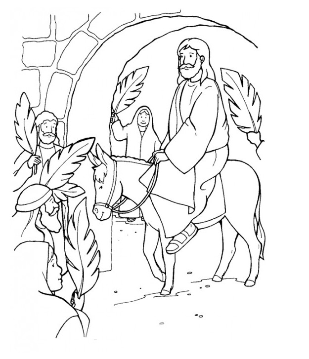 625x727 Palm Sunday Coloring Page Amp Coloring Book