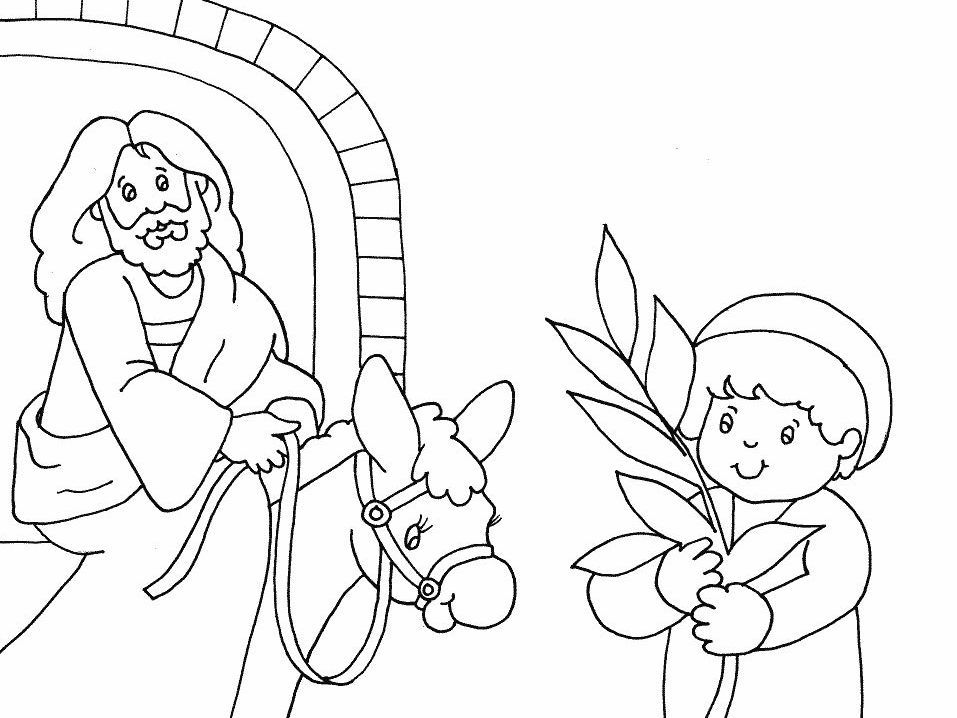 957x718 Palm Sunday Coloring Pages