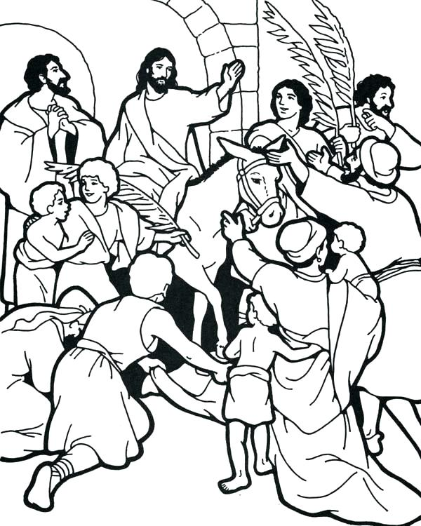 600x750 Palm Sunday Coloring Pages As Awe Inspiring Religious Coloring