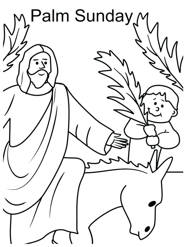 600x797 Palm Sunday Coloring Pages Kid Wave Palm Tree Branch In Front