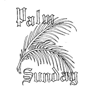 302x327 Beautiful Palm Sunday Coloring Pages And Clip Art Pictures