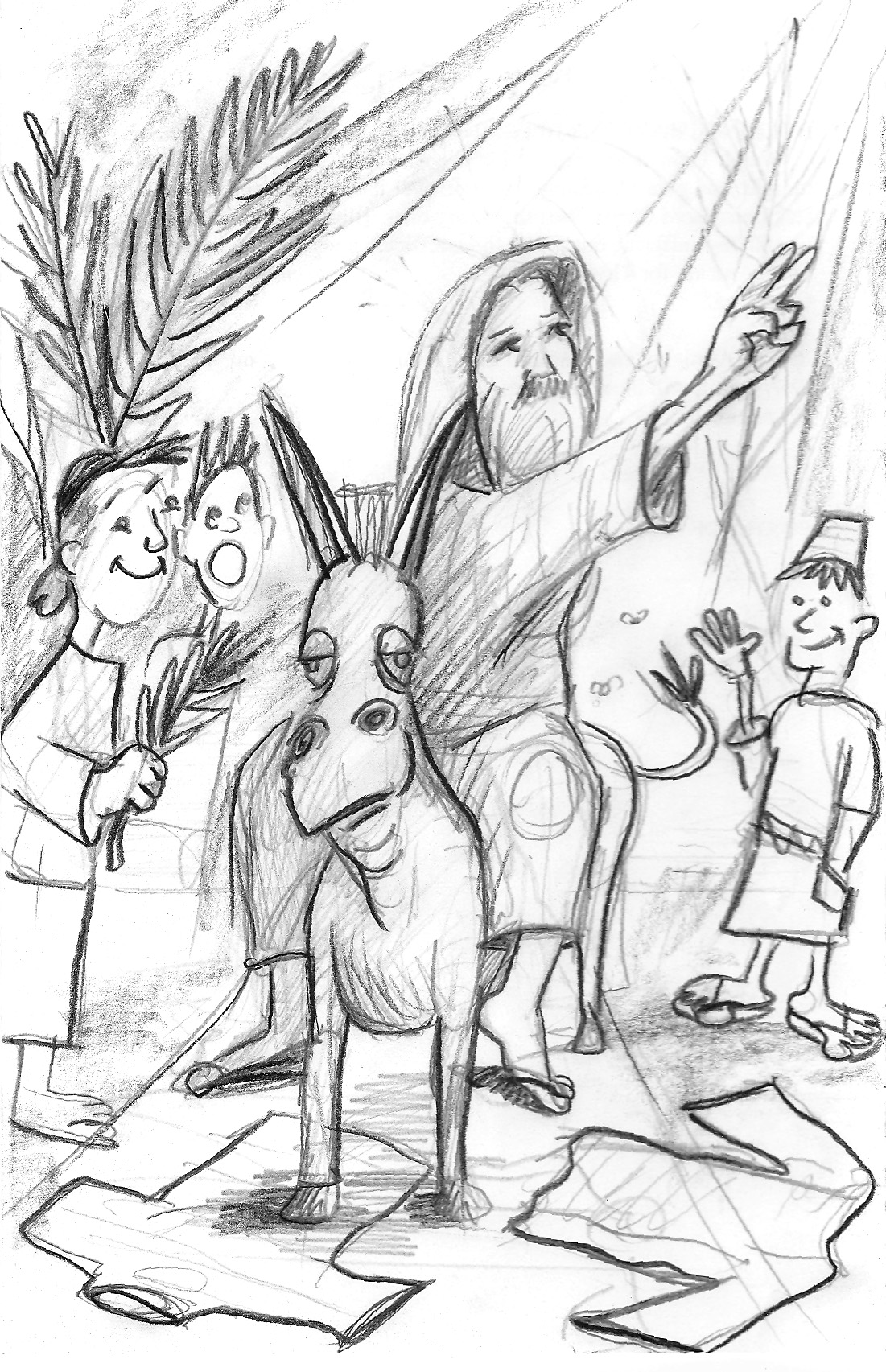 Palm Sunday Drawing At GetDrawings