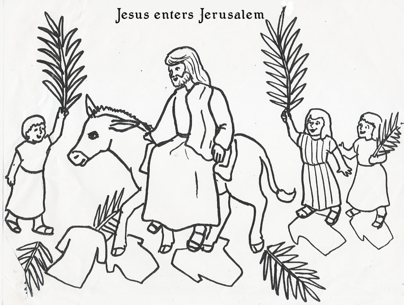 793x600 Palm Sunday Printable Coloring Pages Jesus Palm Sunday Coloring