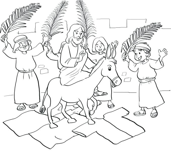 678x600 Palm Sunday Coloring Pages