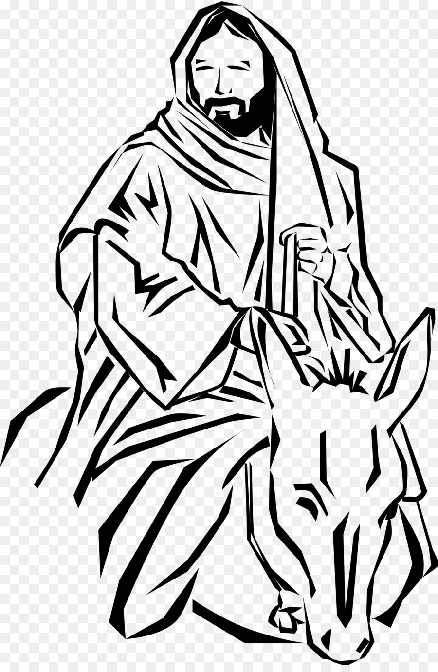 900x1380 Donkey Palm Sunday Triumphal Entry Into Jerusalem Clip Art