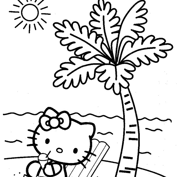 Beautiful Palm Tree Beach Coloring Page Gallery - New Coloring Pages ...