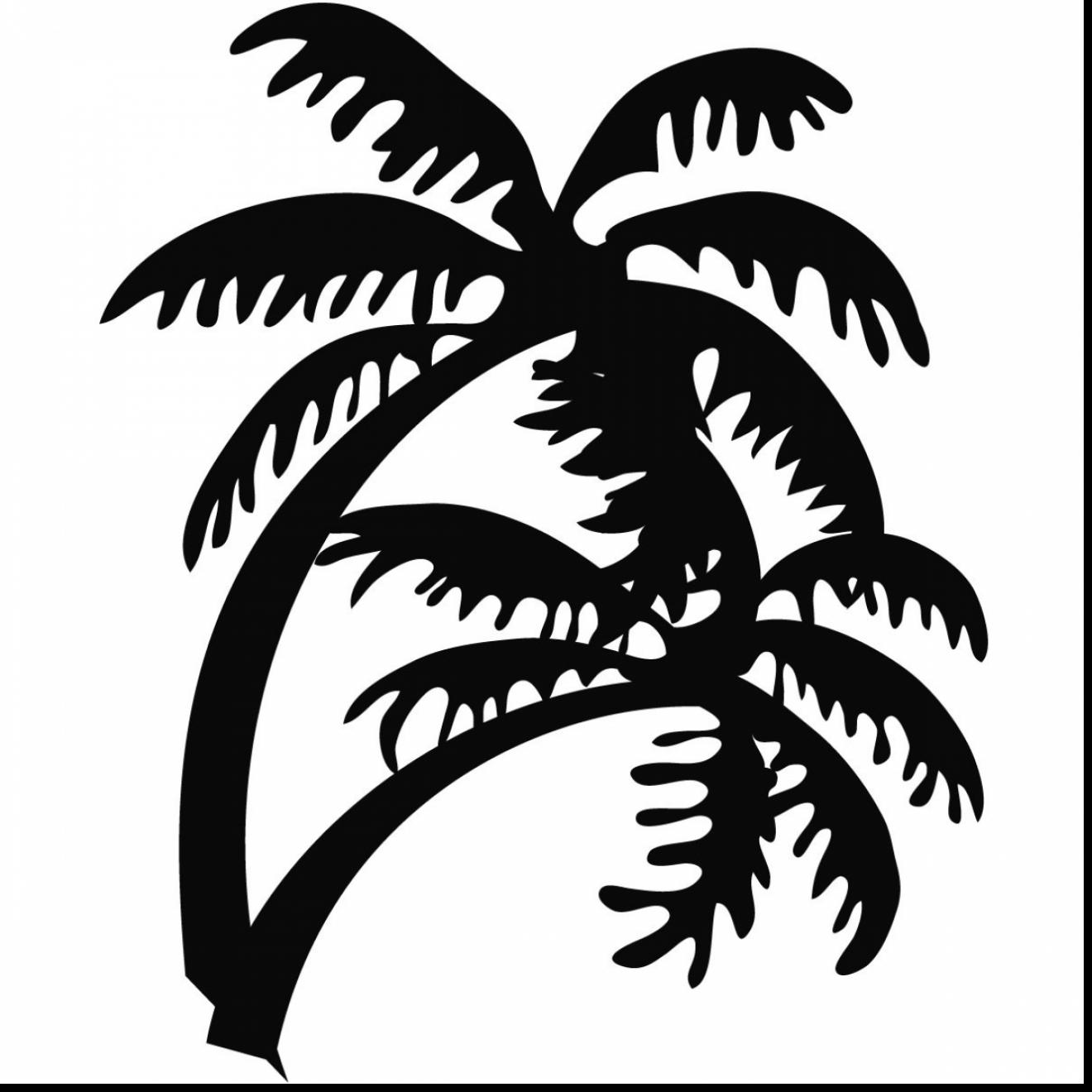 1320x1320 Astounding Palm Tree Beach Outline Drawing With Palm Tree Coloring