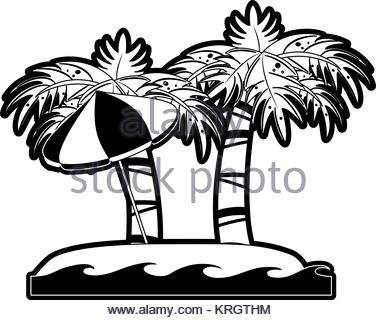 376x320 Vector Cartoon Of Palm Tree On A Small Island For Travel