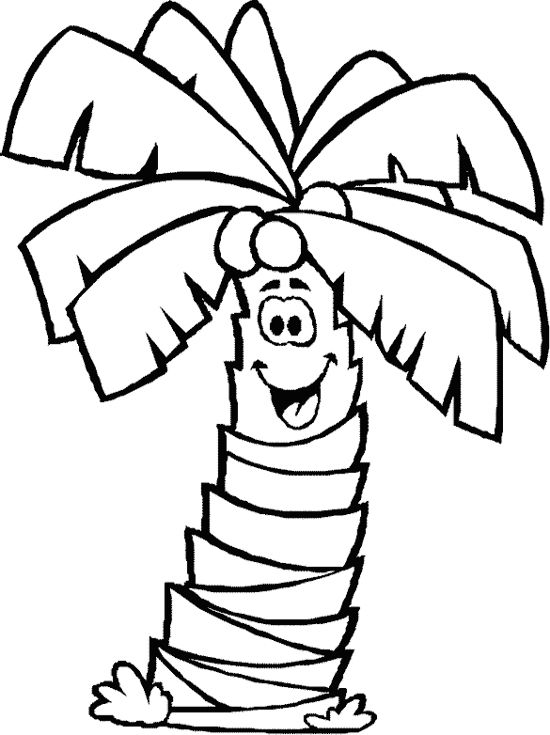 550x735 Of Palm Trees Coloring Page Free Download