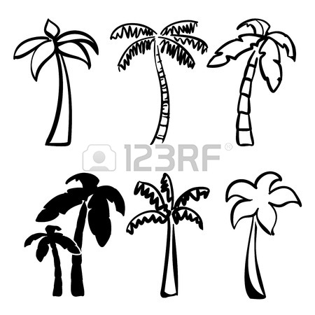 450x450 Palm Icon Sketch Collection Cartoon Vector Illustration Royalty