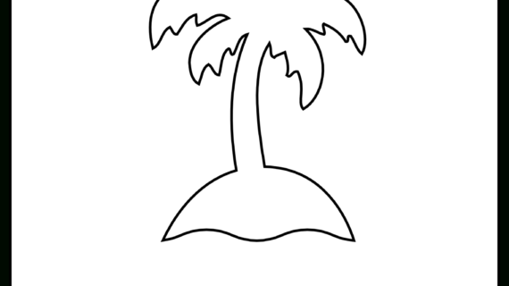 570x320 Simple Drawing Of A Palm Tree Simple Line Drawing Stock Photos