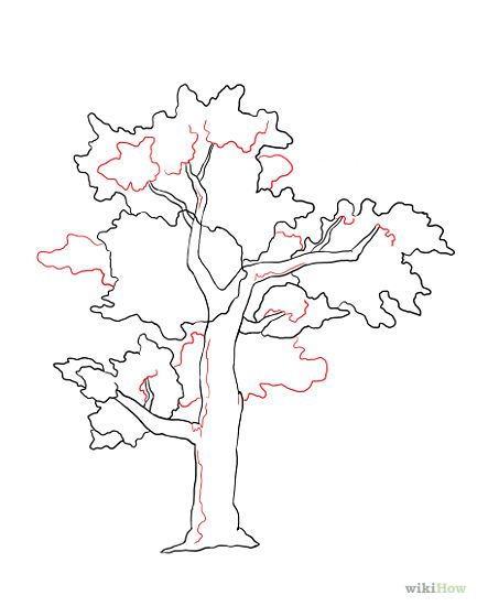433x550 How To Draw A Cherry Tree Step 4 Pictures To Pin