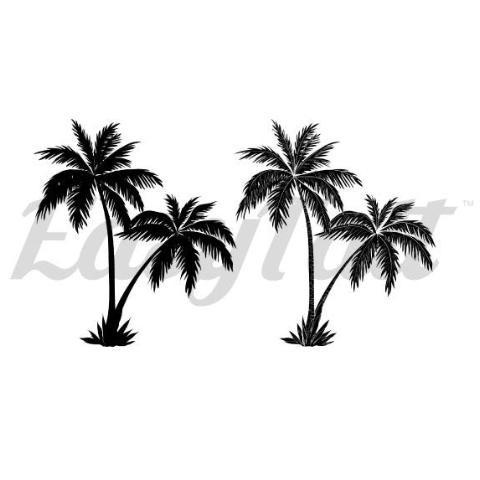 480x480 Temporary Tattoos By Easytatt, Twin Palm Trees Temporary And Fake