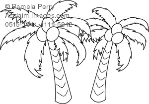 Palm Tree Drawing Outline at GetDrawings