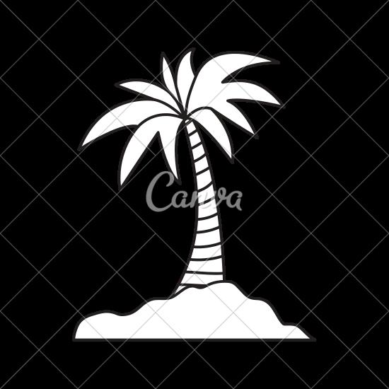 550x550 Island Palm Tree