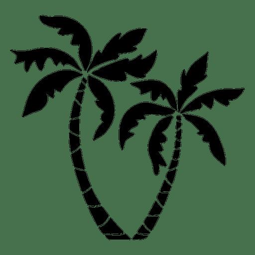 512x512 Palm Palm Trees Silhouette