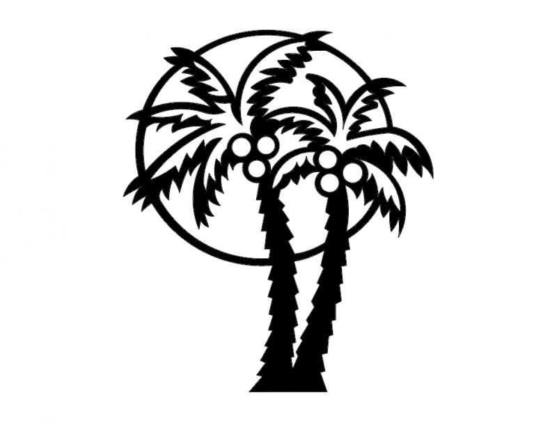 800x606 Palm Tree Dxf File Free Download