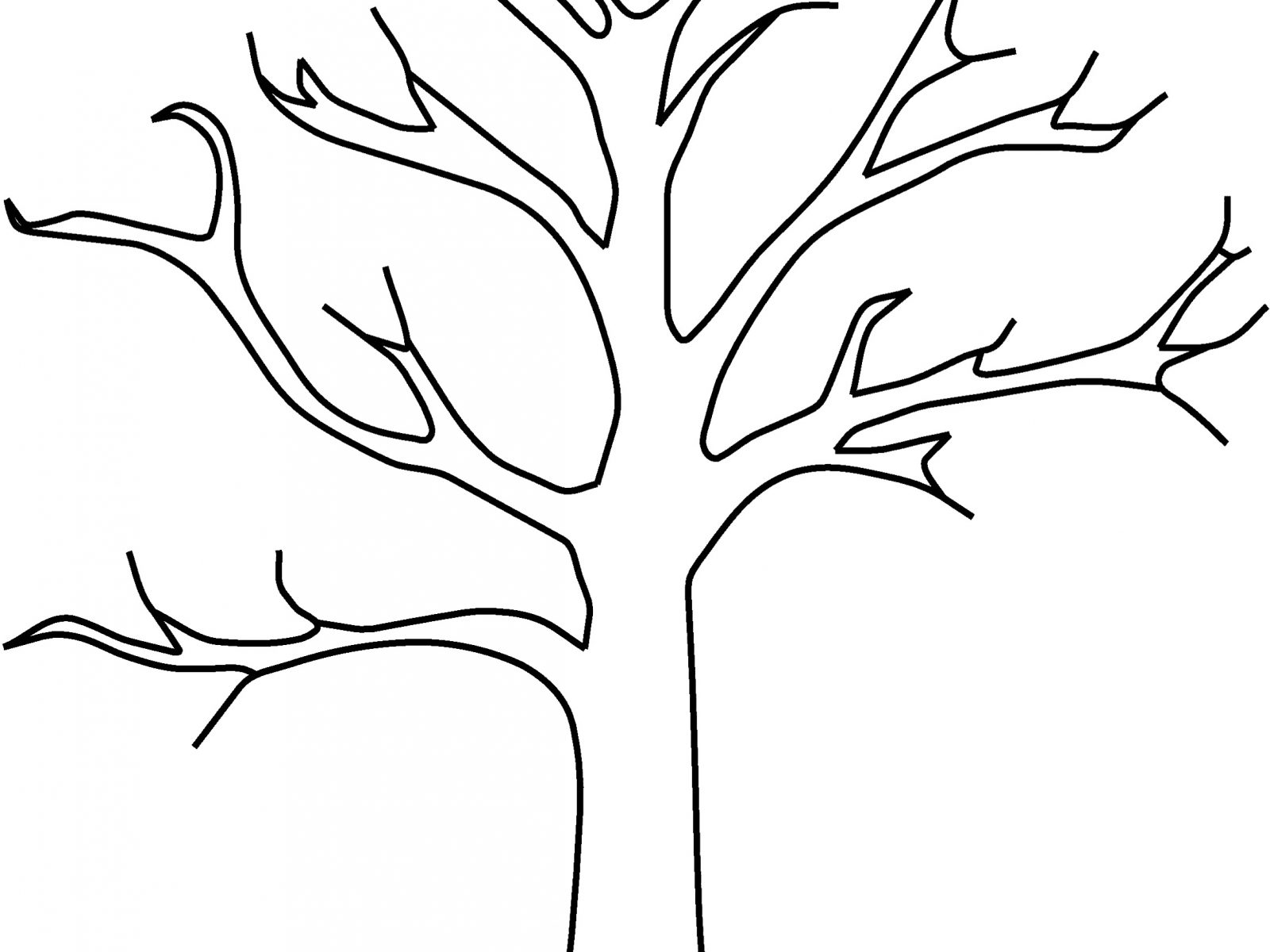 1600x1200 Free Christmas Tree Coloring Pages For Download Printable Kids Big