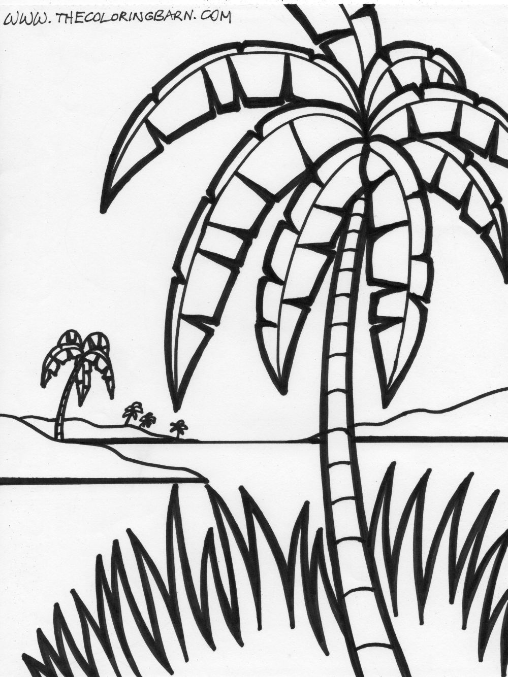 1000x1334 Simple Design Palm Tree Coloring Page Download Pages